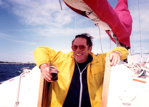 Dad on boat