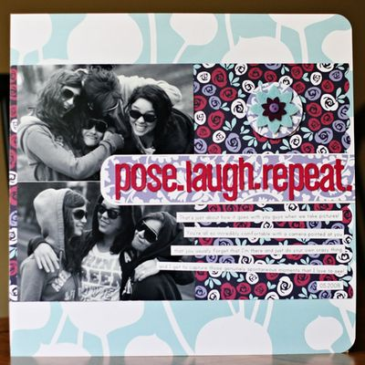 Pose laugh repeat