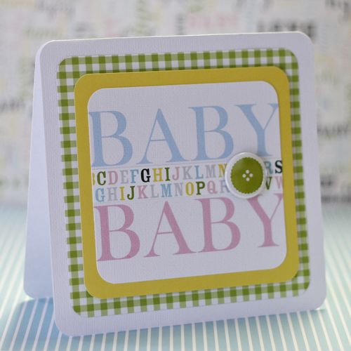 Baby baby card
