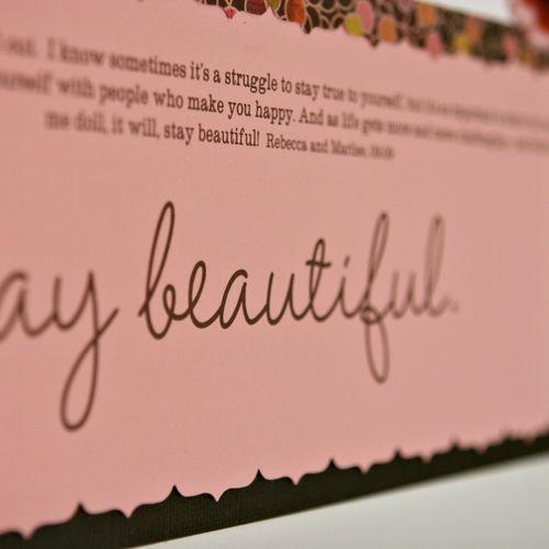 Stay beautiful 1