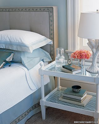 Blue bedroom martha stewart