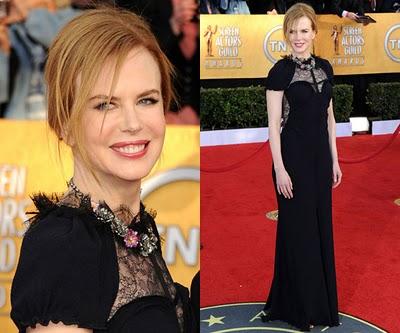 Nicole kidman sag awards dress 2011