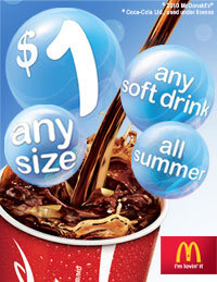 McDs $1 drinks